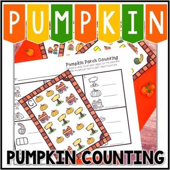 Kindergarten Pumpkin Math Center - Pumpkin Patch Counting