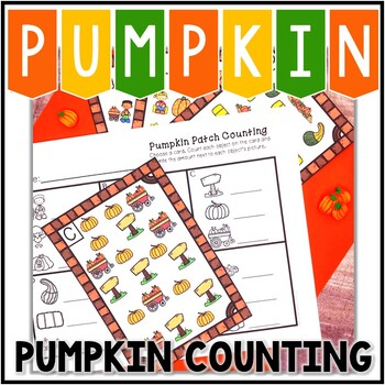 Kindergarten Pumpkin Math Center - Pumpkin Patch Counting