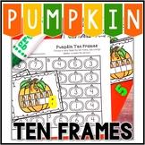 Kindergarten Pumpkin Math Center - Pumpkin Ten Frames