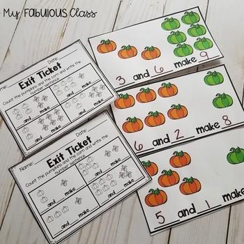 Kindergarten Pumpkin Math Centers