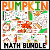 Kindergarten Pumpkin Math Centers - 7 Fall Math Centers - Bundle
