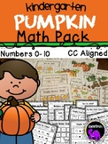 Kindergarten Pumpkin Math Pack: Numbers 0-10
