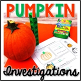 Kindergarten Pumpkin Science, Pumpkin Exploration, Pumpkin Investigations