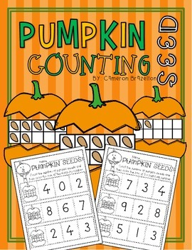 Kindergarten Pumpkin Seed Counting and Number Recognition