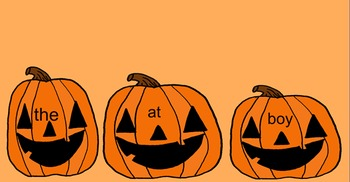 Kindergarten Pumpkin Sight Words Smartboard