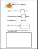 Kindergarten Pumpkin Unit- Fits Well in Literacy Centers