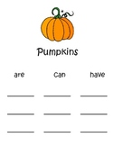Kindergarten Pumpkins Unit