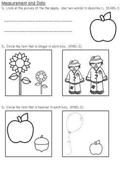 Kindergarten Quarte 2 Pre & Post Test - Everday Math & Common Core