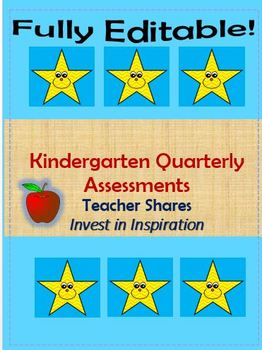 Kindergarten Quarter 3 Assessment Sheets