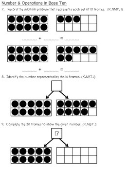 Kindergarten Quarter 3 Pre & Post Math Test