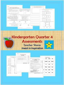 Kindergarten Quarter 4 Assessment Packet