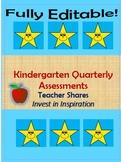 Kindergarten Quarterly Assessments