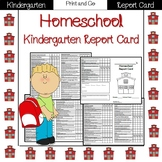 Kindergarten Quarterly report card