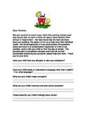 Kindergarten Questionaire for Parents