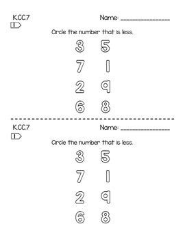 Kindergarten Quick Assessments: MATH