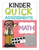 Kindergarten Quick Assessments: MATH