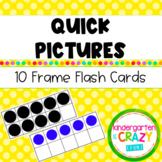 Kindergarten Quick Pictures Ten Frame Flash Cards 0-20