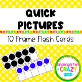 Kindergarten Quick Pictures Ten Frame Flash Cards 0-20