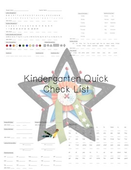 Kindergarten Quick Skill Check