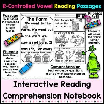 Kindergarten R-Controlled Vowel Reading Passages