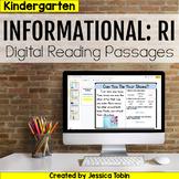 Kindergarten RI Informational Digital Passages with Digital Reading