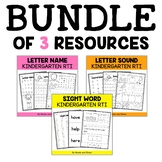 Kindergarten RTI - Response to Intervention Bundle