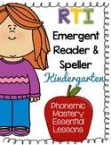 Kindergarten RTI - Phonics Fluency