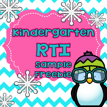 Kindergarten RTI Freebie
