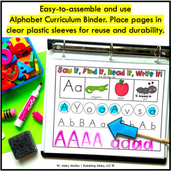 kindergarten rti letter recognition id intervention curriculum alphabet