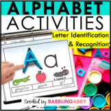 Kindergarten Alphabet and Letter Activities Intervention for RTI