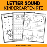 Kindergarten RTI Letter Sounds