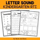 Kindergarten RTI Letter Sounds