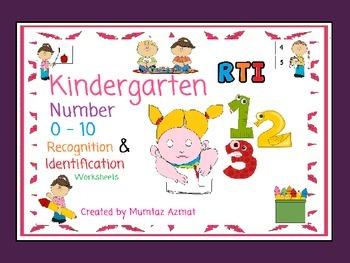 Kindergarten RTI  Number 0-10  Recognition and Identificat