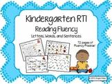 Kindergarten RTI: Reading Fluency Pack- Letters, Words, &