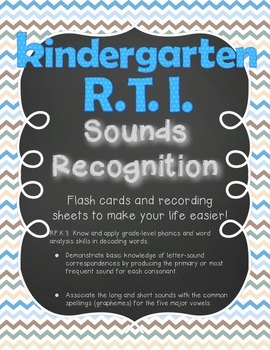Kindergarten RTI Sounds Recognition