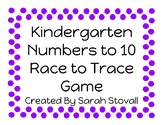 Kindergarten Race to Trace Game