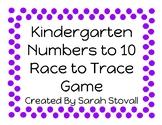 Kindergarten Race to Trace Game