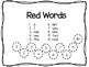 Kindergarten Sight Words- RED List