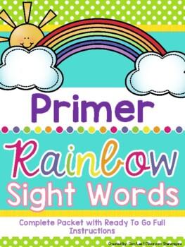 Primer (Kindergarten) Dolch Rainbow Sight Words (Complete Set)