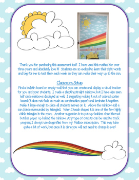 Kindergarten Rainbow Sight Words: Complete Assessment Program