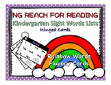 Kindergarten Rainbow Sight Words Ringed Cards - Reach for Reading