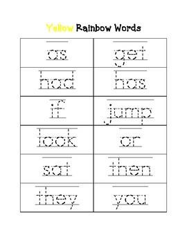 Kindergarten Rainbow Traceable Sight Words: Based on Fountas & Pinnell Word Work