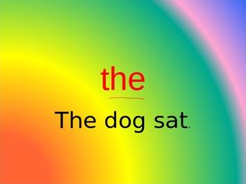 Kindergarten Rainbow Word Power Point