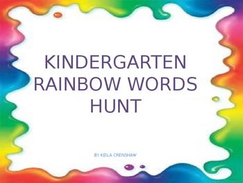 Kindergarten Rainbow Words