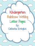 Kindergarten Rainbow Writing Letter Printables