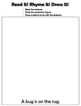 Kindergarten: Read, Write, Draw - Rhyming 4 (bounce the ba