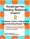 Kindergarten Read and Respond Sheets