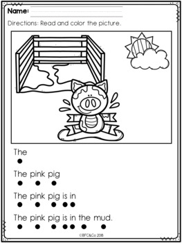 Kindergarten Read and Write Freebie