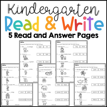 Kindergarten Read and Write Set 3