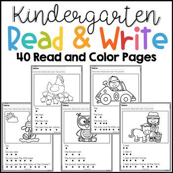 Kindergarten Read and Write The Bundle